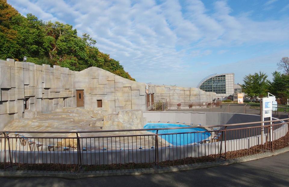 円山動物園世界の熊館外部改修工事