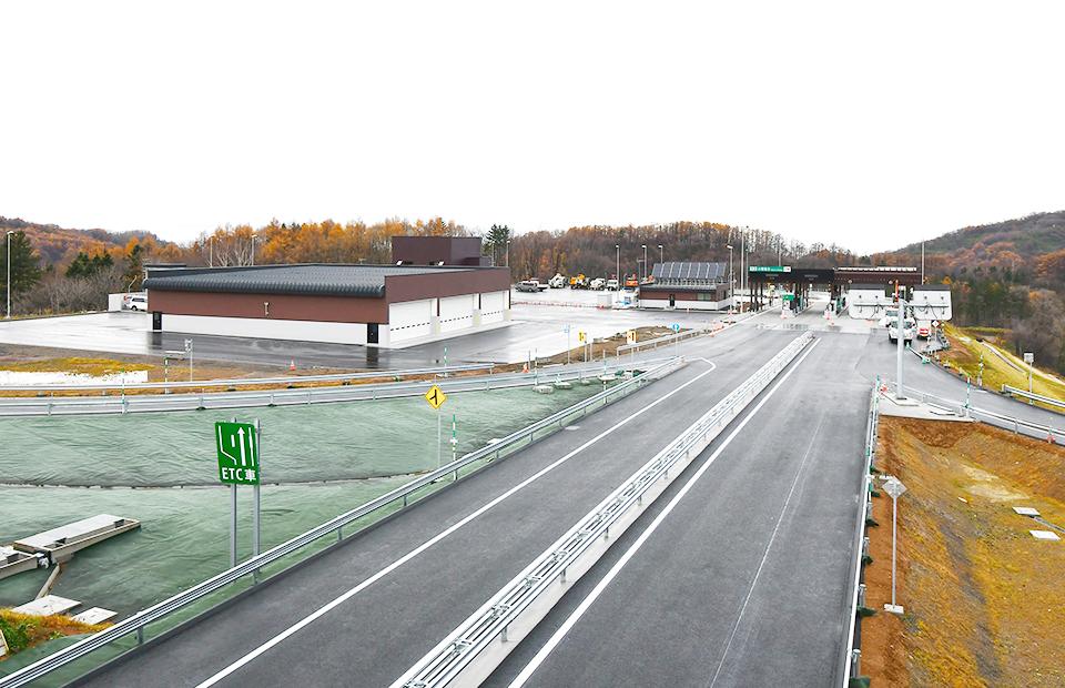 北海道横断自動車道小樽西IC料金所新築工事